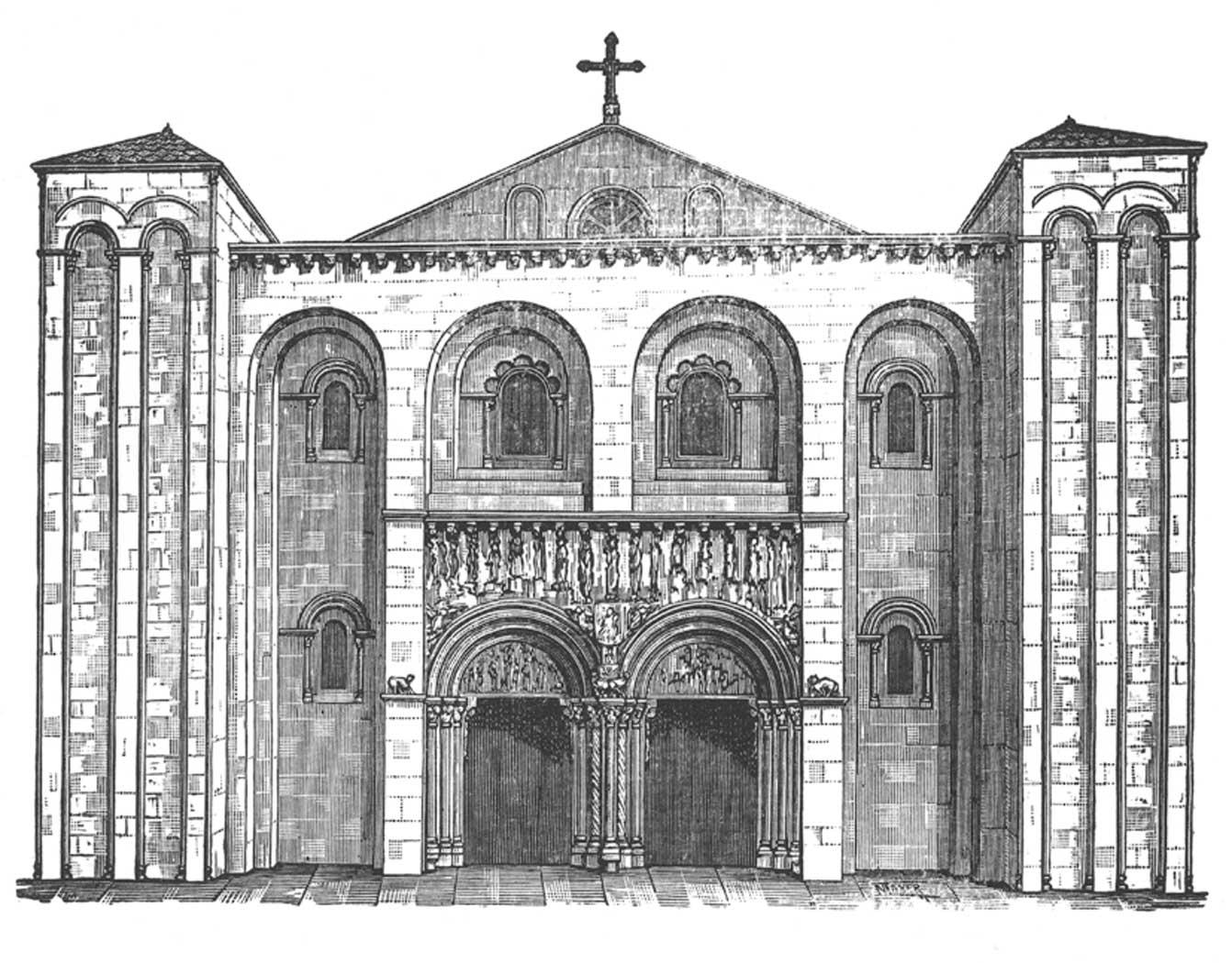 Santiago de compostela catedral de xacopedia Romanticismo arquitectura